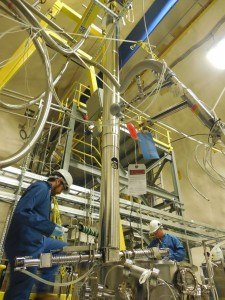 Fig. 5: Resurfacer Commissioning at SNOLAB